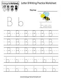 Writing Practice Worksheet Kindergarten Letter B Writing Practice Worksheet Printable