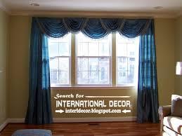 Curtain Valance Ideas For Living Room Blue Lantern Swag Valance Traditional Living Room Curtains