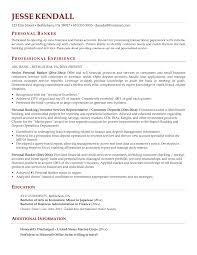 banker resume accomplishments banker resume example banking  banking