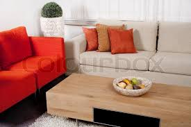 modern colorful furniture. Modern Furniture Design With Couches In Two Colors Living Room, Stock Photo Colorful A