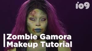 the coolest creepiest zombie gamora makeup tutorial