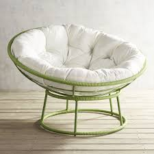 Outdoor Peridot Green Papasan Chair Frame