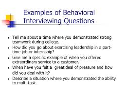 Examples Of Behavioral Interview Questions Behavioral Interview Sample Questions Under Fontanacountryinn Com