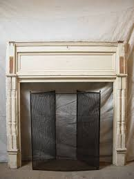 962 antique wood fireplace mantel