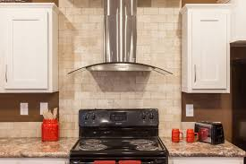 electric range countertop. Contemporary Range 75 Most Splendid Modern Stainless Steel Convertible Range Hood With Exposed  Natural Stone Backsplash Electric Stove Marble Countertop White Traditional  Intended