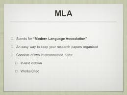 Mla How To Guide Mla Stands For Modern Language Association An