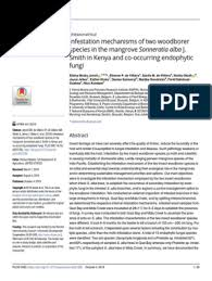 Infestation mechanisms of two woodborer species in the mangrove Sonneratia  alba J. Smith in Kenya and co-occurring endophytic fungi | Polymerase Chain  Reaction | Fungus