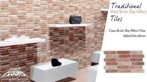 casa brick effect traditional red brick slip effect tiles 14057 walls and floors