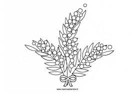 Disegno Mimosa Da Stampare E Colorare Mamma E Bambini