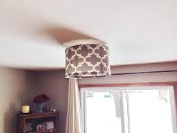 diy ceiling lighting. Picture Of DIY Drum Shade Diy Ceiling Lighting