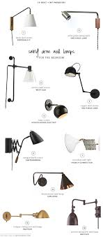bedside lighting swing arm wall lamps