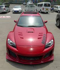 mazda rx8 modified red. mazda rx8 is a scary red japanese monster in china rx8 modified