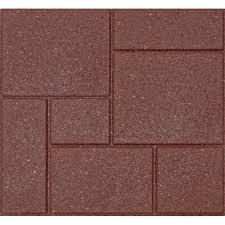 Recycled Leather Floor Tiles Envirotile Cobblestone 18 In X 18 In Terra Cotta Rubber Paver 4