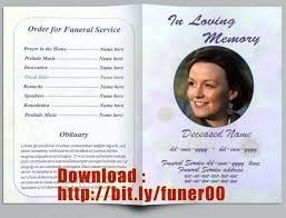 Free Funeral Program Template For Mac Ustamco 207985957237 Free