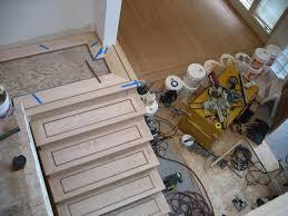 hardwood floor installtion red oak quareter sawn wood glued down radiant heated glitsa professional