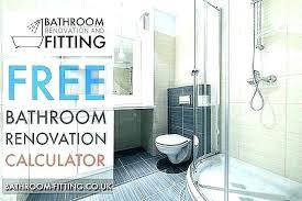 Bathroom Remodeling Cost Calculator Plrbook Club