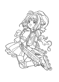 Sakura Go To School Coloring Pages