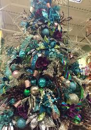 #Teal blue and brown chocolate #Christmas tree. Designed by Arcadia Floral  and Home