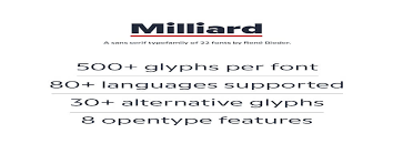 Milliard Font Family Free Download