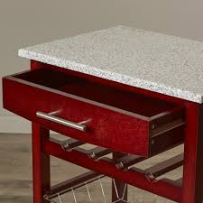 Kitchen Granite Varick Gallery Flint Kitchen Cart With Granite Top Reviews Wayfair