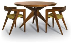 bonfire round dining table v2 dining chairs modern
