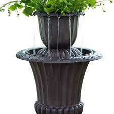 flower pot fountain resin outdoor urn flower pot water fall fountain flower pot fountain ideas