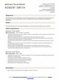 truck driving resumes delivery truck driver resume samples qwikresume