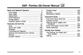 2007 pontiac g6 owners manual just give me the damn manual 2007 Pontiac G6 Fuse Box 2007 pontiac g6 owner's manual 2007 pontiac g6 fuse box location