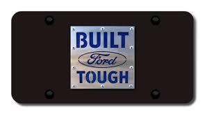 built ford tough logo vector. built ford tough license plates vanity logo tags black vector
