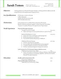Physical Therapy Resume Examples 1080 Player