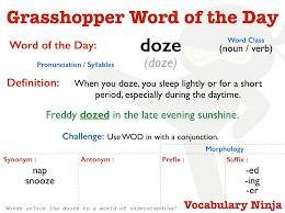 Lightly Synonym Grasshopper Word Of The Day Vocabulary Ninja