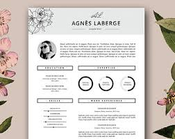 Fashion Resume Templates 18 Template Feminine And Free Cover Letter ...