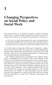 social policy for social work this page intentionally left blank 16 1 changing perspectives on social policy
