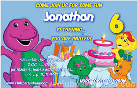 barney party invitation template invitations template free printing