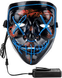 Led Light Up Mask Amazon Philonext Halloween Mask Led Light Up Mask For Festival Cosplay Halloween Costume Masquerade Parties Carnival Gifts