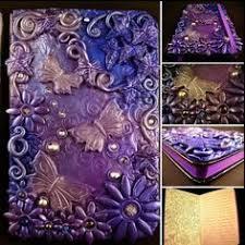 art theme sketch book handmade polymer clay cover journal covers polymer clay and polymers