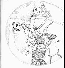 Nightmare Before Christmas Coloring Book Pages Color Bros