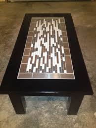 amazing tile top coffee table tile finished tryde coffee table variation do it yourself home