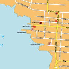 map st john´s, antigua & barbuda maps and directions at hot map Antigua Airport Map map st john´s antigua airport terminal map