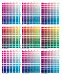 Free Download Pantone Color Chart Pdf Free 8 Sample Cmyk Color Charts In Pdf Word