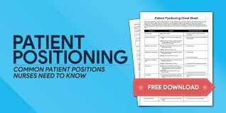 Patient Positioning Nursing Cheat Sheet For Nclex Nurseslabs