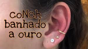 Conch Dourado Especial Piercings De Orelha Youtube
