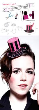 super cute burlesque diy mini top hat made of paper printable templates and easy step
