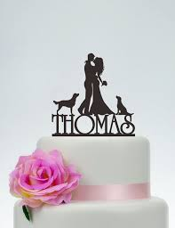 Wedding Cake Topperbride And Groom Cake Toppercouple Silhouette