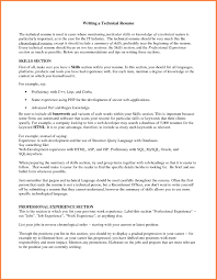 Resume Technical Skills Examples Resume Skills Examples