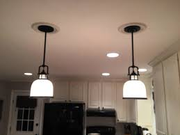 image of replace recessed lighting with hanging fixtures