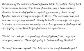 here s hunter s thompson on the pig trick politics the goal here s hunter s thompson on the pig trick politics the goal get your