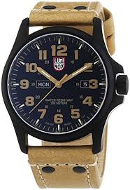 luminox atacama field day black carbon fiber dial brown leather luminox atacama field day black carbon fiber dial brown leather mens watch 1925 chronoism