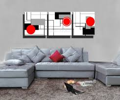piece hd print red black white modern artwork abstract canvas art painting for living unique