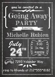 chalkboard going away farewell invitation template this is the perfect invitation card for farewell party to seniors